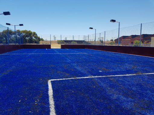 Blue Soccer Field